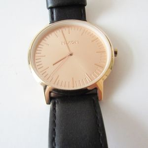 Nixon The Porter Rose Gold Face,Black Strap Watch